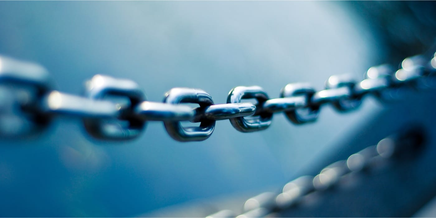 Chain link closeup