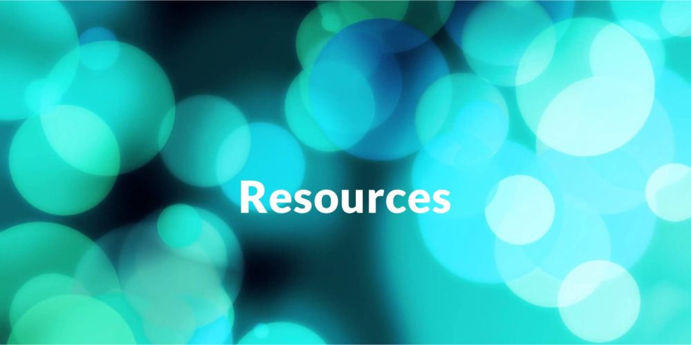 Header with the word Resources